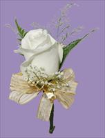 Boutonnière with Gold Ribbon