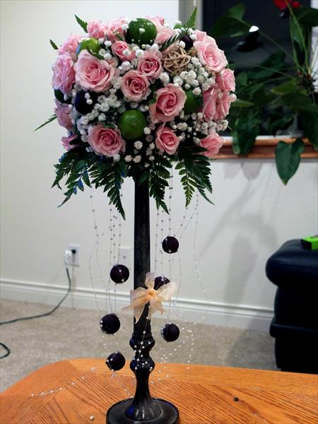 Pink with black centerpiece.