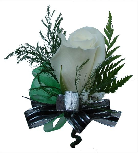 Boutonni 232 Re With Black Silver Ribbon Wisteria Flower Shop
