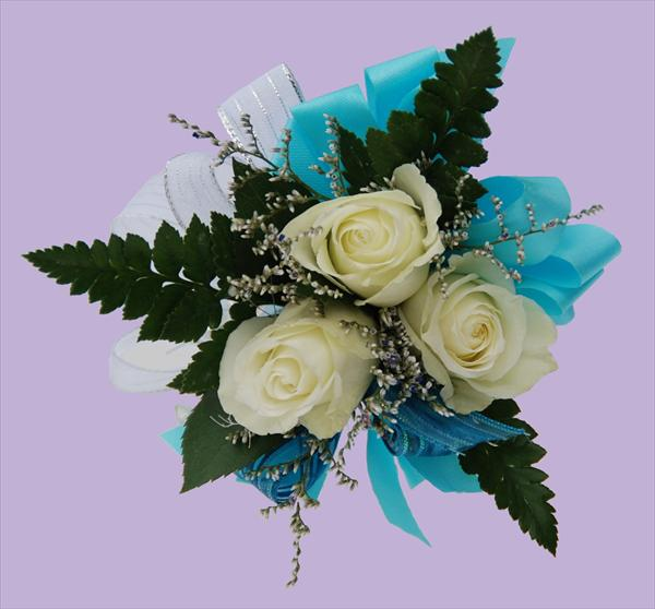 Three White Roses Corsage